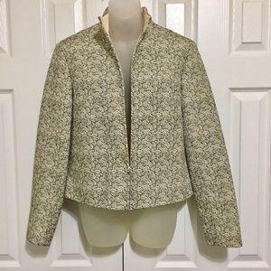 """Ellen Tracy Sz 8 Jacket Blazer Beige 18"""" pit 21""""L"""